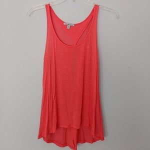 Coral Flowy Tank with Keyhole Back